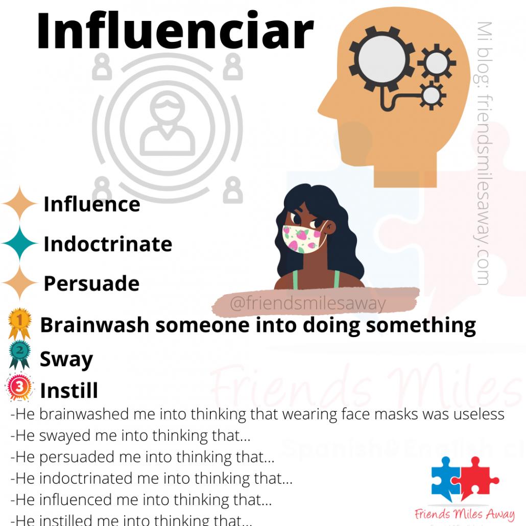 Influence sinónimos